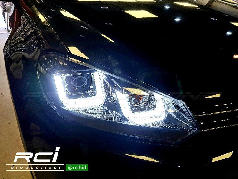 RC HID LED專賣店 福斯 VW GOLF6 6代 類 GOLF7 U型日行燈 遠近魚眼大燈組 含馬達 台灣製 B