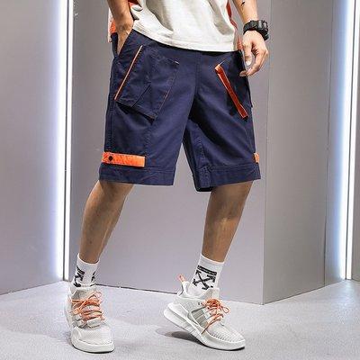 【大碼集站】夏季新款青年潮流時尚棉質男士工裝休閒多口袋中褲短褲 M-3XL YF04.419