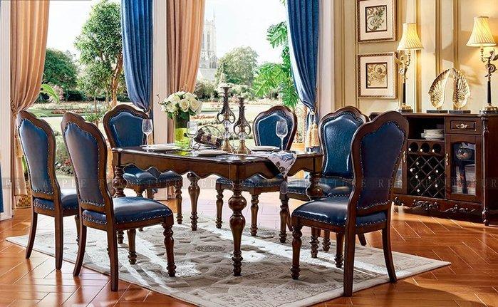 [紅蘋果傢俱] 601 美式英倫風系列 長餐桌 桌子 (另售餐椅 椅子)  數千坪展示