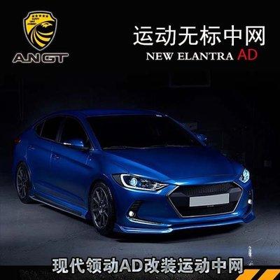 車達人Hyundai現代 Elantra 改裝中網  Elantra 概念款前臉進氣格柵韓版蜂窩前臉AD專用 高品質