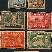 [亞瑟小舖]英屬馬來亞彭亨及蘇丹阿布巴風景新票7枚小套,稀有佳品!!!(1957年)