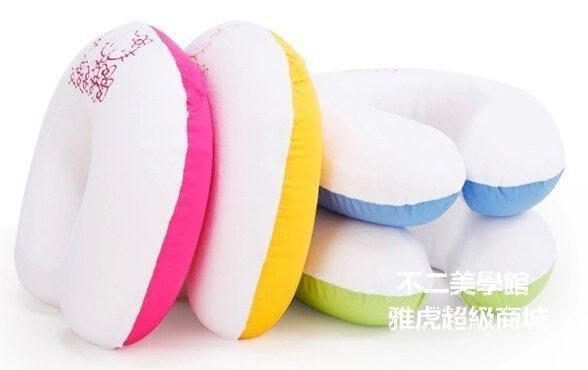 【格倫雅】^賽諾helloKitty凱蒂貓正版授權彩虹U型枕記憶枕u型枕頭護頸枕228