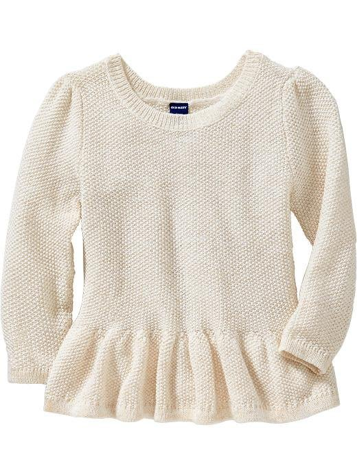 【Nichole's歐美進口優質童裝】Old Navy 女童金蔥針織長袖裙擺上衣*Carter's/OshKosh
