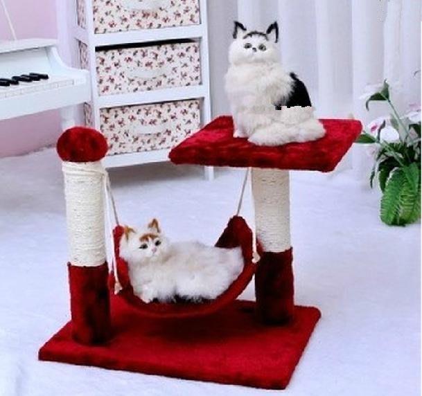 貓咪玩具劍麻貓爬架貓窩雙層貓樹貓抓板貓跳架子貓跳臺貓蕩千秋 貓抓柱貓樹 環保材質 貓咪喜歡
