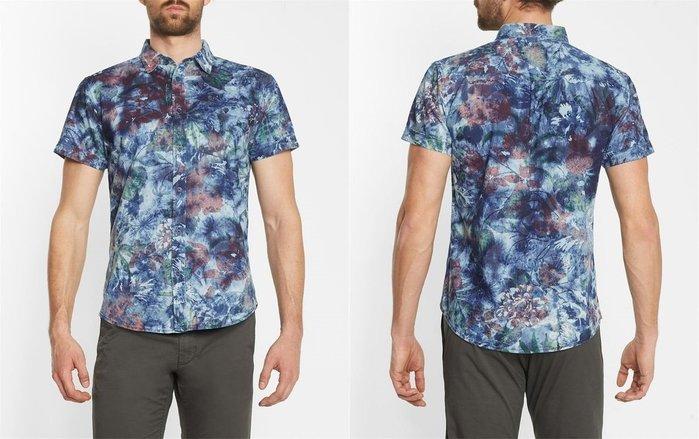 Wrangler Denim Floral Print Short~Sleeve Shir