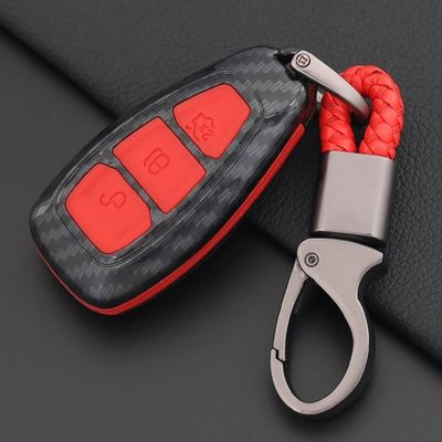 FORD 福特 MK2 MK3 FOCUS FIESTA KUGA MONDEO 專用汽車鑰匙包 碳纖紋鑰匙套 殼 扣