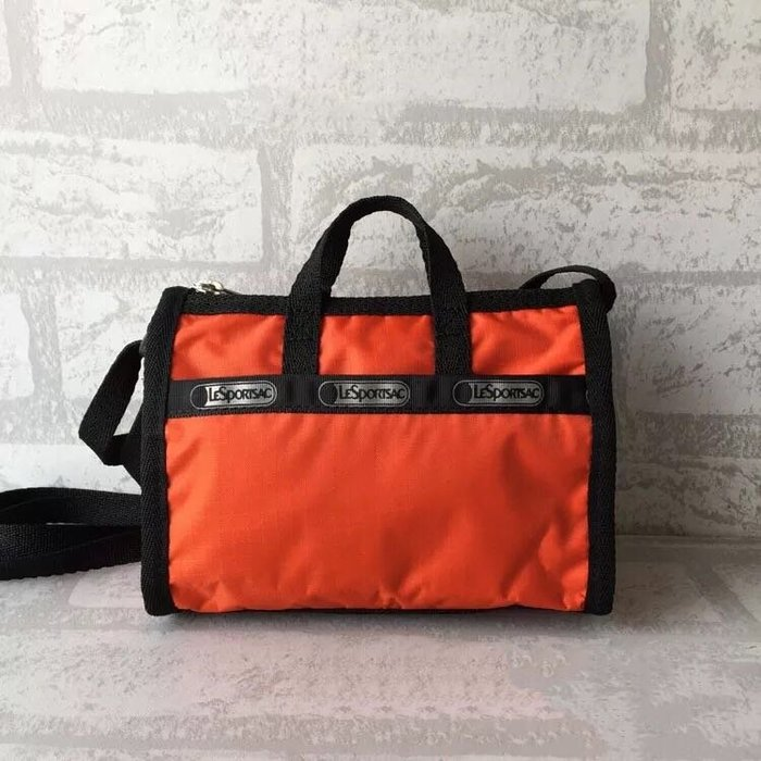 LeSportsac 3273 橘色 迷你斜背手提防水兩用包 限量
