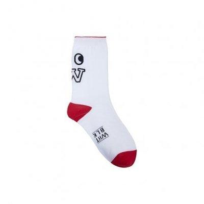 ☆AirRoom☆【現貨】2016 WHITE BLANK W Glance Socks 白紅 長襪 副牌