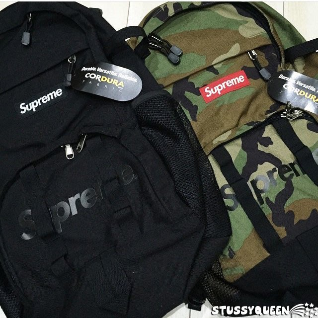 【超搶手】全新正品 2015 SS Supreme Backpack 38th 38代 後背包 字體logo迷彩現貨
