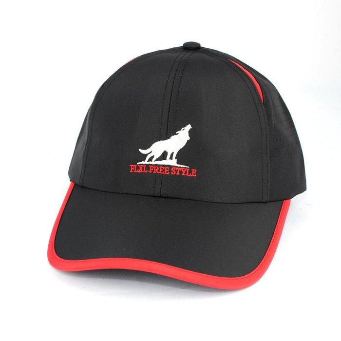 ☆二鹿帽飾☆(FLXL) 抗UV 休閒球帽/流行棒球帽/雷射雕刻布網.帽簷加長加寬型-台灣製 9cm-黑色