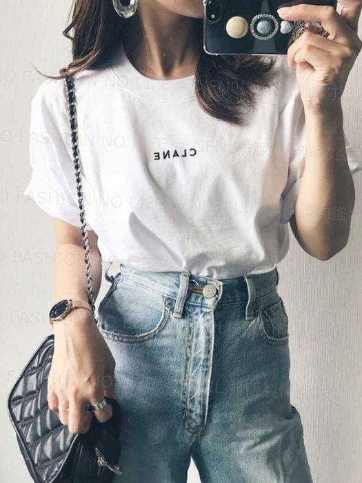 ☆NFNL☆ 買家許願 CLANE 松本惠奈自創品牌 人氣基本百搭 時尚字母印花 棉質 短袖T恤 男女可穿