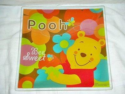 L.(企業寶寶娃娃公仔)少見pooh小熊維尼造型紀念果盤!--值得收藏!/藍折/-P