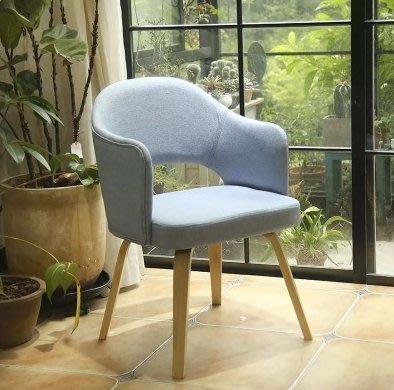 『格倫雅』北歐實木餐椅布藝家用扶手靠背椅子咖啡廳餐桌椅現代簡約書房椅^1642