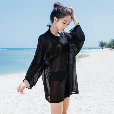 比基尼罩衫鏤空防曬衣女中長款外搭沙灘溫泉度假蕾絲泳衣外套    全館免運