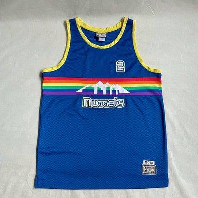 丹佛金塊 NBA Denver Nuggets hardwood classic 彩虹版 復古球衣 vintage