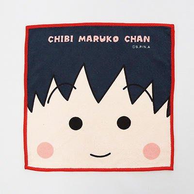 櫻桃小丸子 毛巾 小方巾 手帕 100%綿 正版 日本帶回 小日尼三 團購 批發 優惠 現貨 免運費 不用等