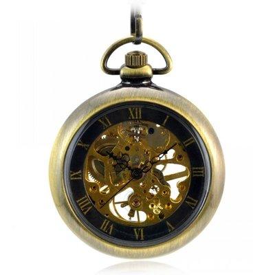 經典無蓋羅馬L38M銅色復古懷表 機械懷表男女士學生老人表