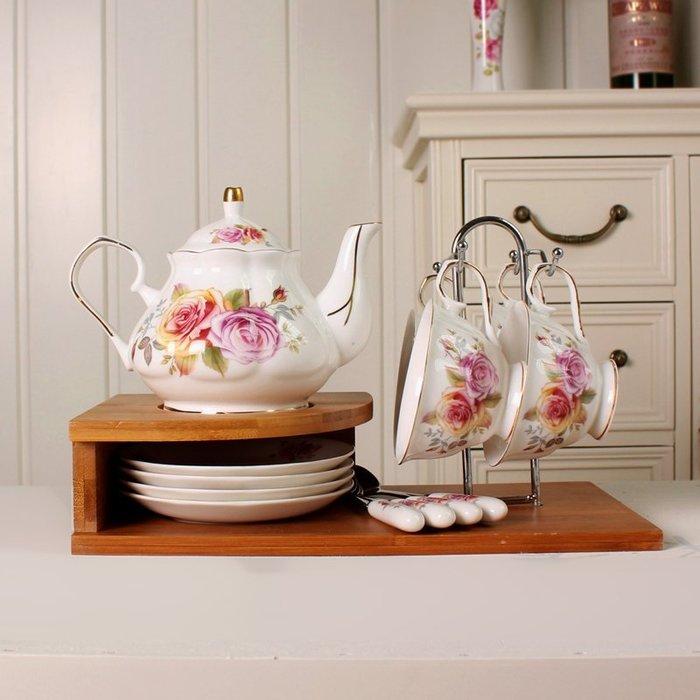 粉紅玫瑰精品屋~13頭紅玫瑰下午茶咖啡套裝~