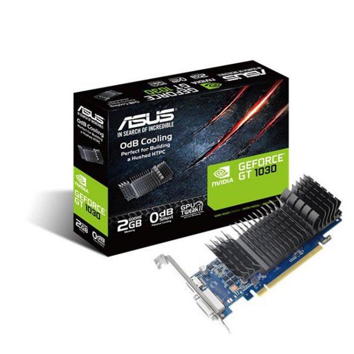 【曜買電腦&顯示卡】華碩 ASUS GT1030-SL-2G-BRK(1468MHz/17.3cm/註冊四年)
