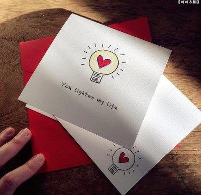 【喵星球】 YOU LIGHTEN MY LIFE(情人節賀卡 愛情賀卡 定制賀卡 手工賀卡)卡片手工藝品禮物HI369