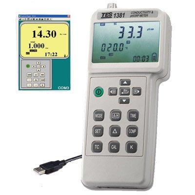 TECPEL 泰菱 》泰仕 TES-1381K TES1381K 電導度 酸鹼度 氧化還原電位計 PH ORP COND