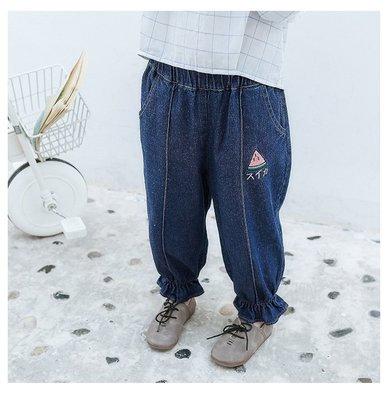 【Mr. Soar】 B2015 春季新款 歐美style童裝女童牛仔褲長褲 現貨