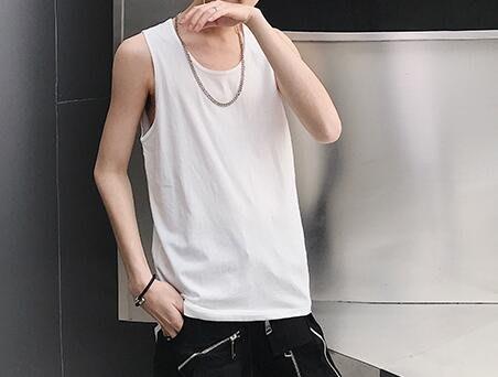 FINDSENSE品牌 韓國 潮流 無袖 純色 寬鬆  打底 百搭 背心  時尚