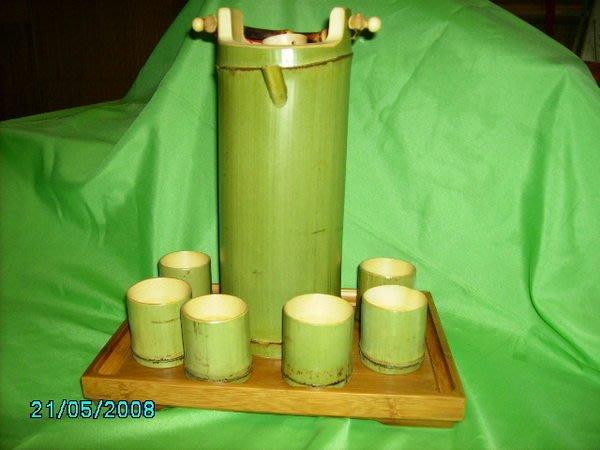 ***竹還真竹藝館*竹壼及六個竹杯一套$1380元