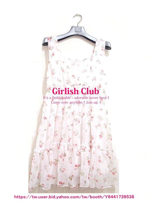 【Girlish Club】雜誌款小碎花無袖V領洋裝禮服(m1035)夏姿陳季敏貝爾尼尼萊卡佛葉珈伶韓國sz八一元起標