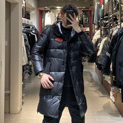 歐韓貨歐洲站羽絨服男中長款連帽加厚冬季2021新款男士外套潮流防寒服男