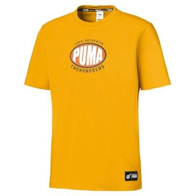 【吉米.tw】PUMA x THE HUNDREDS LOGO短T 黃色 短袖T恤 596750-25 APR