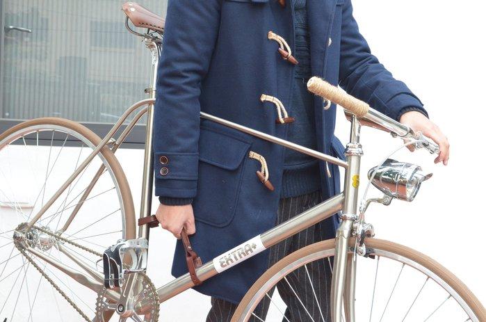 (熱賣款!!)SEic單車工廠►自行車/復古車►台灣精工 真皮時尚 提車把帶 X 咖啡色