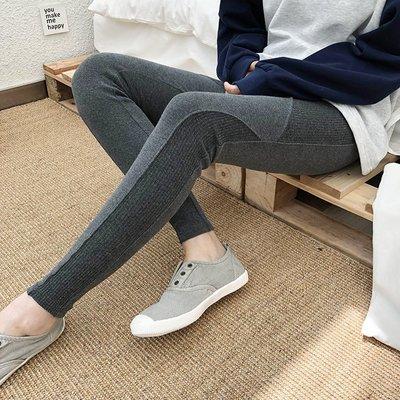 Black Market 重磅款推薦高彈秋季拼接修身鬆緊腰內搭褲(預購)本週特價