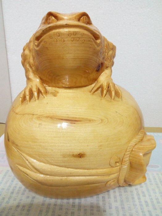 【九龍藝品】檜木 ~ 三腳蟾蜍.福袋 ~ (1)