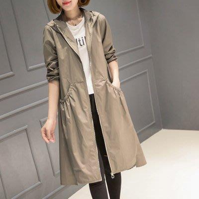 [C.M.平價精品館]S~2XL/時尚有型顯高顯瘦長版風衣外套  卡其色/深藍/黑色