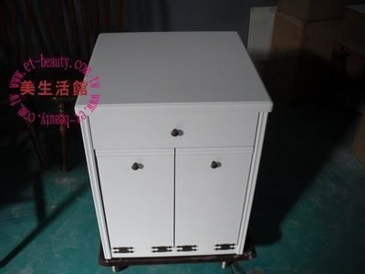 美生活館--客訂全實木白色單抽雙門分類垃圾桶--日韓鄉村風格家具-也可改成收納櫃