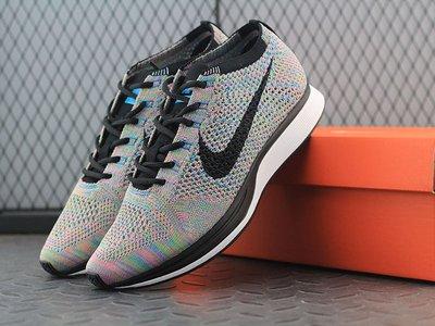 """Nike Flyknit Racer""""Muticolor""""多彩配色飛線 編織 慢跑鞋 526628-304"""