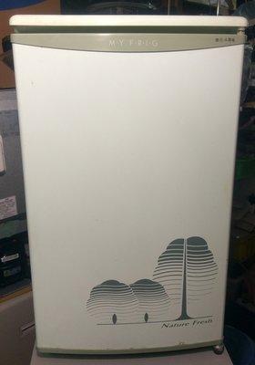 【真實園中古家電】東元 TECO RA0915 90公升 單門 二手 中古 冰箱 除霜/製冰/省電/靜音/機美