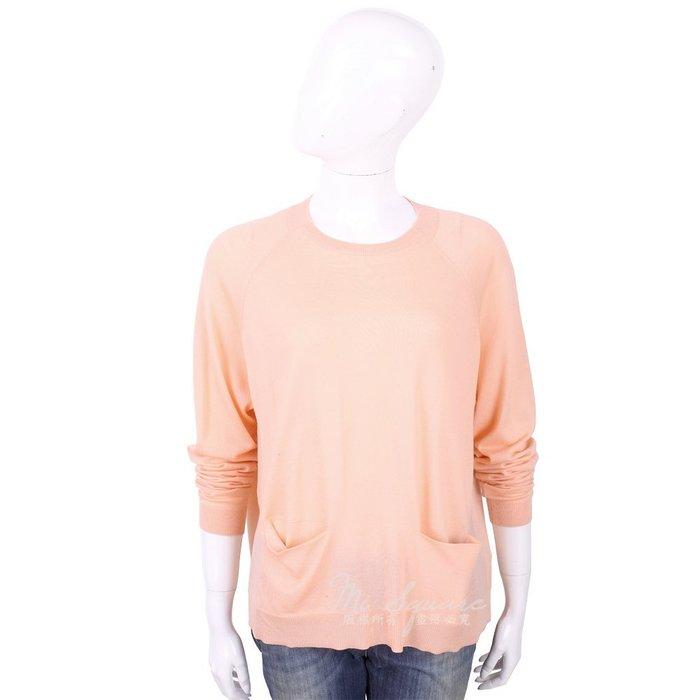 米蘭廣場 ALLUDE 100%羊毛粉橘色雙口袋針織衫 1740254-39