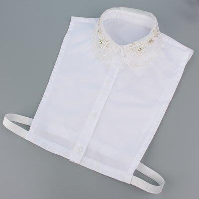 假領子 襯衫 領片-釘珠刺繡花邊網紗女裝配件73va17[獨家進口][米蘭精品]
