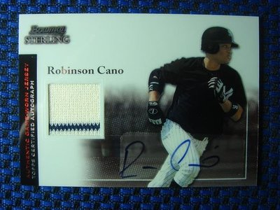 2004 BOWMAN STERLING 洋基隊 ROBINSON CANO 親筆簽名球衣卡