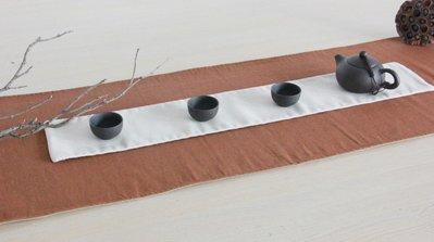 【自在坊】【特價分享】原創茶蓆 棉麻布桌旗 二件式雙層茶席香席 茶巾布 純色茶席 茶道配件 百搭設計 一件抵三件
