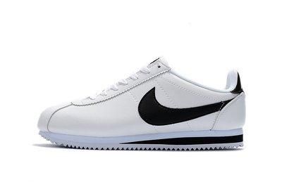 D-BOX NIKE Cortez Basic SL Gs 運動 休閒 百搭 皮革 白色 黑勾 慢跑鞋