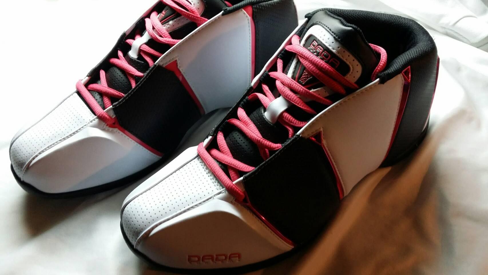 DADA 籃球鞋 4th quarter US 9.5 27.5 cm 白 黑 粉紅 NIKE 參考