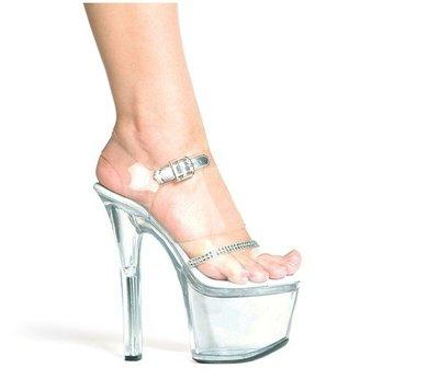 """透明鞋 7寸高跟鞋""""西西莉亞""""新款特殊定制鞋  貨號: 7120# 有實體店鋪,可量身定做!"""