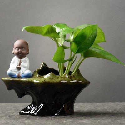 【現貨】 創意綠蘿水培花瓶水養花盆植物盆器家用客廳裝飾品插花小擺件#花瓶#擺件SG27268