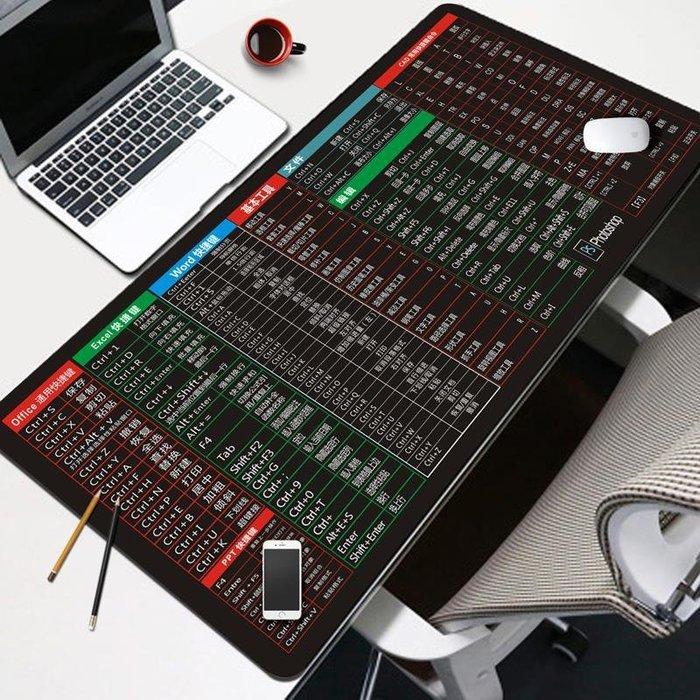 辦公桌面多功能墊滑鼠墊7-11全家正韓國版鼠標墊帶快捷鍵加厚超大3dmax防水簡約辦公定制訂做多功能桌墊19612