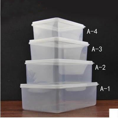 【透明塑膠保鮮盒-加大-7L-32*22*10cm-2個/組】食品級PP冰箱食物收納盒-7670625