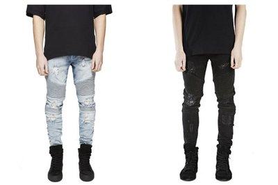►FINAL SALE 最後出清◄ 破壞騎士牛仔褲 Biker Jeans (非 balmain represent