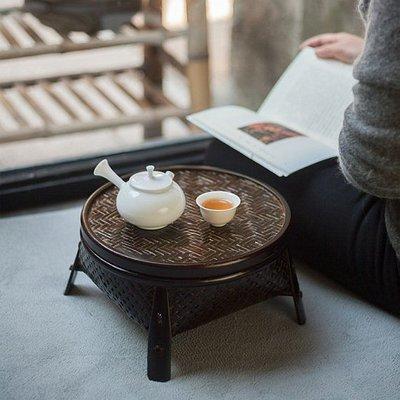 【自在坊】日式手作竹編籃 茶道用品 茶座 品茶盤 收納籃 茶道籃 茶具收納 和風茶室儲物框 禪意【全館滿599免運】